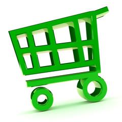 Green Shooping Cart