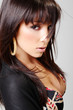 Atractive brunette, portrait