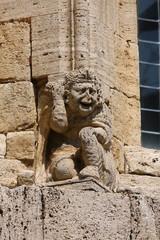 La Collegiata, dettaglio architettonico San Quirico d'Orcia