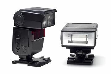 Flashes electrónicos para fotografía.