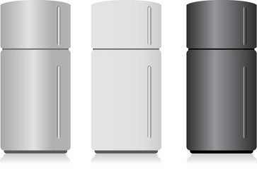fridge isolated on white