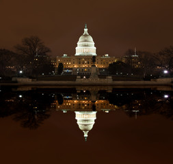 United States Capitol Building at night