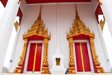 Thailand temple doors.