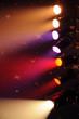 projecteurs dans un cirque