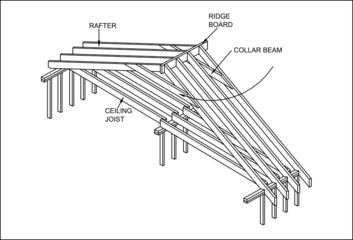 Detail Carpenter's Construction of the roof