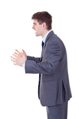 Business man Yelling