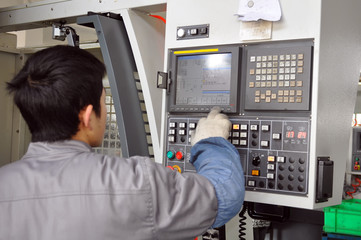 workers control CNC