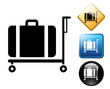 Luggage cart pictogram and signs