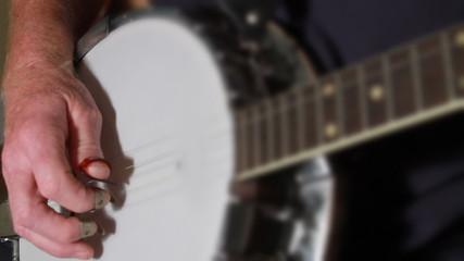 Depth of Field Banjo Playing
