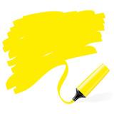 Fototapety Marqueurs jaune fluo