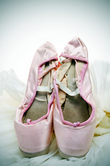 pointe shoes and tutu