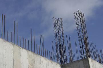 Rebar reinforcement construction site