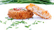 Fishcakes with sweet chilli sauce and chives