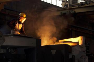Smelting furnace worker