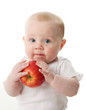 Baby holding an apple