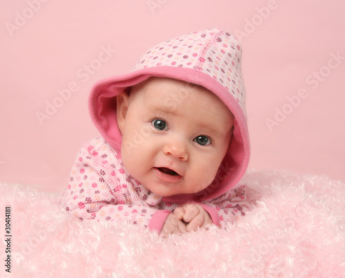 Cute baby girl stock photo and royalty free images on pic 30414181 - Deco slaapkamer baby meisje ...
