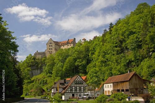 Leinwanddruck Bild Burg Rabenstein