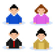 men and women pixel buddies