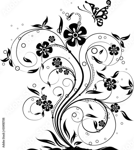 Floral abstract background, vector © Tolchik