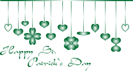 background for happy st patrick day, vector illustration