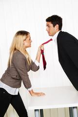 Mobbing am Arbeitsplatz. Aggression  und Streit.