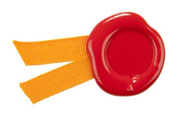 sealing wax with ribbons.