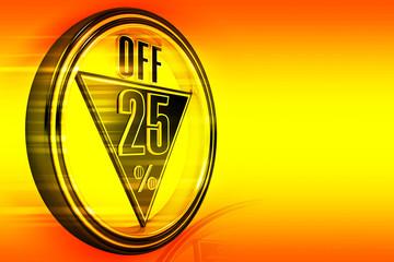 Gold metal Twenty Five Percent off