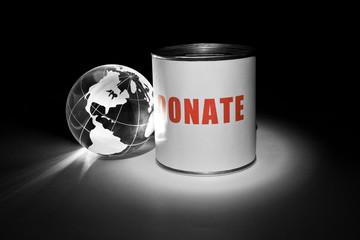 Globe and Donation Box