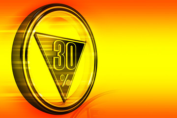 Gold metal thirty Percent