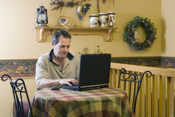 Businessman working from home