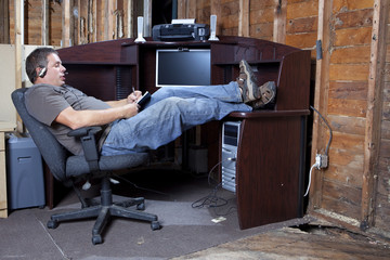 Recession budget office space