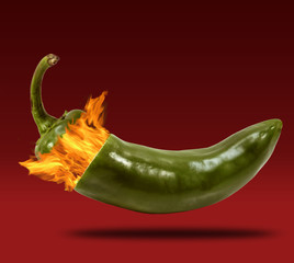 Fire Blowing off Cap of Jalapeno