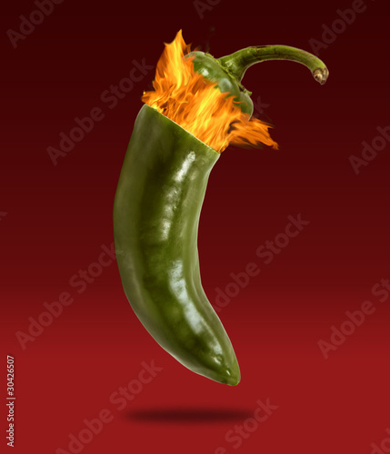 Fire Exploding Cap Off of Jalapeno