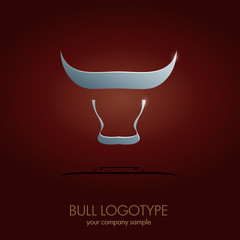 Logo Silver Bull. Concept of 	 strength and virility # Vector