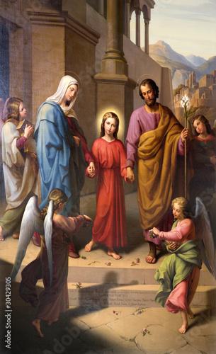 Vienna - holy family from Lichtentale Pfarrkirche church