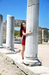 near  columns