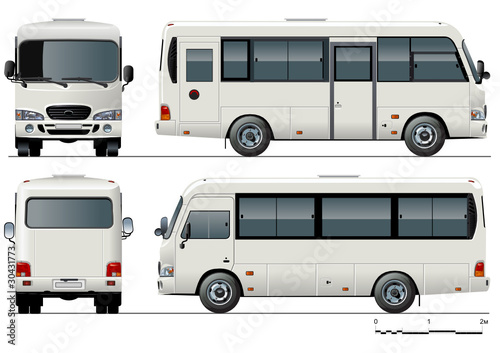 Vector urban passenger mini-bus