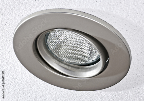 Pot light in ceiling tile