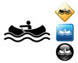 Canoe pictogram and signs