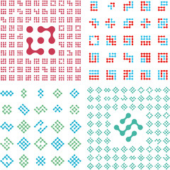 Collection of different graphic elements for design.