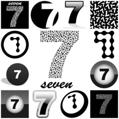 SEVEN. Vector great collection.