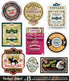 Etikety Vintage Kolekce-Set 15