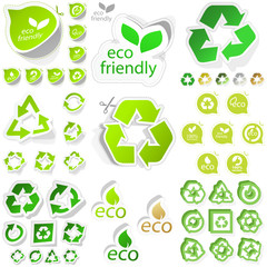 Recycle sticker set. Great collection.