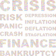 CRISIS. Illustration with different association terms.