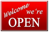 welcome we're open