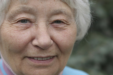 Close up portrait of senior woman