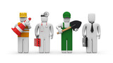 People of different professions poster