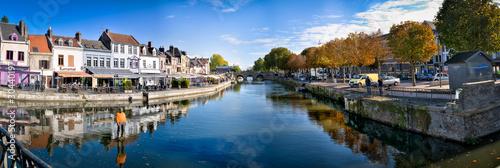 Foto op Canvas Stad aan het water Amiens centre ville HDR