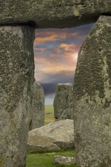 Moody sky framed by Stonehenge