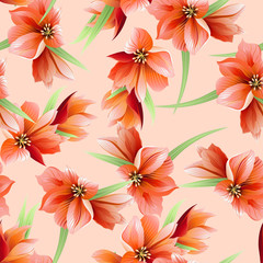 Abstract Elegance seamless floral pattern.